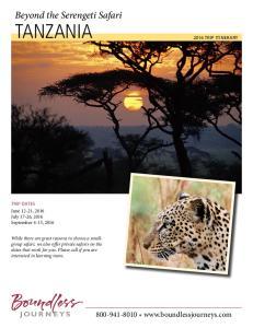 Beyond the Serengeti Safari TANZANIA