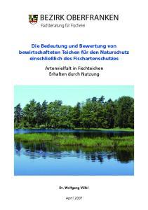 Bezirk Oberfranken. Fachberatung für Fischerei