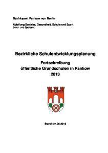 Bezirkliche Schulentwicklungsplanung