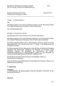 Bezirksamt Friedrichshain-Kreuzberg von Berlin 2013 Abt. für Finanzen, Personal und Stadtentwicklung