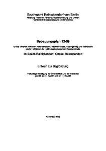 Bezirksamt Reinickendorf von Berlin Abteilung Finanzen, Personal, Stadtentwicklung und Umwelt Fachbereich Stadtplanung und Denkmalschutz