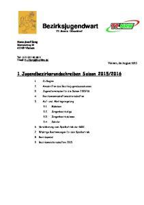 Bezirksjugendwart TT-Bezirk Düsseldorf