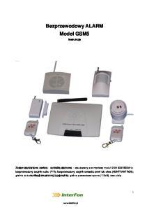 Bezprzewodowy ALARM Model GSM5