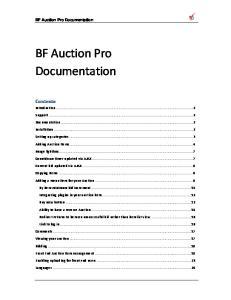 BF Auction Pro Documentation
