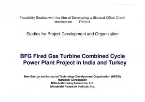 BFG Fired Gas Turbine Combined Cycle Power Plant Project in India and Turkey