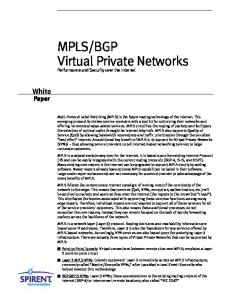 BGP Virtual Private Networks