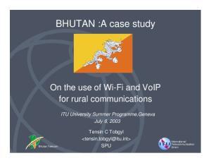 BHUTAN :A case study
