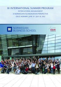 BI InternatIonal Summer Program