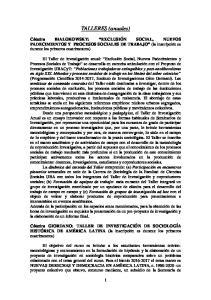 BIALOKOWSKY: EXCLUSIÓN SOCIAL, NUEVOS PADECIMIENTOS Y PROCESOS SOCIALES DE TRABAJO