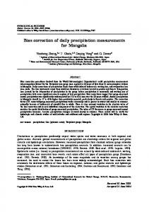 Bias correction of daily precipitation measurements for Mongolia