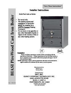 BIASI PiroWood Cast Iron Boiler