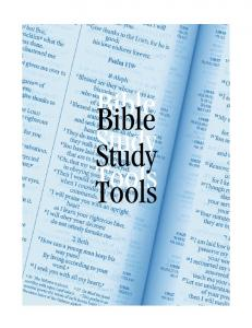 Bible Bible Study Study Tools Tools