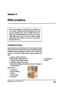 Bible prophecy. Session 5. Predicting the future