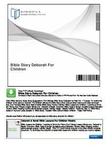Bible Story Deborah For Children