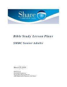 Bible Study Lesson Plans