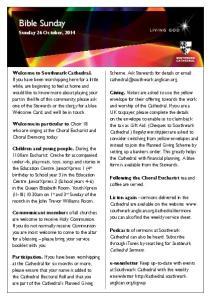 Bible Sunday. Sunday 26 October, 2014