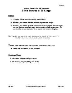 Bible Survey of II Kings