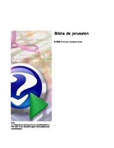 Biblia de jerusalen Enter your company name