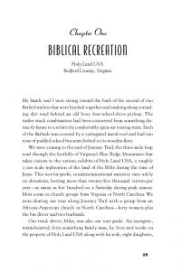 BIBLICAL RECREATION. Chapter One. Holy Land USA Bedford County, Virginia