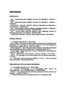BIBLIOGRAFIA ARCHIWALIA