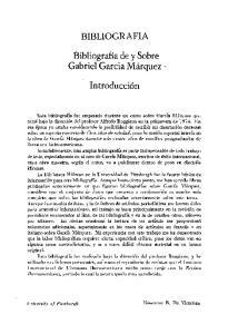 BIBLIOGRAFIA. Bibliografia de y Sobre. Introducci6n