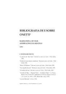 BIBLIOGRAFIA DE E SOBRE ONETTI 1