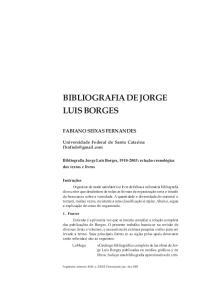 BIBLIOGRAFIA DE JORGE LUIS BORGES