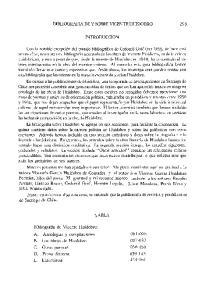 BIBLIOGRAFIA DE Y SOBRE VICENTE HUIDOBRO INTRODUCCION