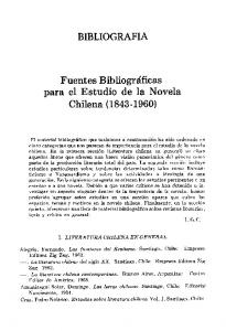 BIBLIOGRAFIA. Fuentes B ibliogra'ficas para el Estudio de la Novela Chilena ( )