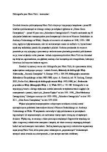 Bibliografia prac Marii Pilch komunikat