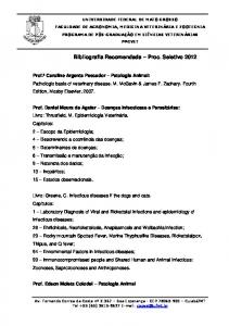 Bibliografia Recomendada Proc. Seletivo 2012