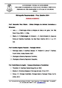 Bibliografia Recomendada Proc. Seletivo 2014
