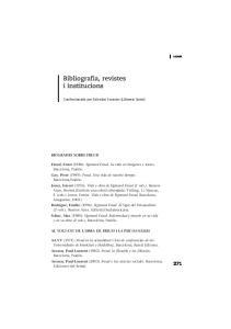 Bibliografia, revistes i institucions