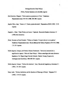 Bibliografía sobre César Vallejo. (Trilse, Poemas humanos y Los heraldos negros)