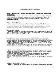 BIBLIOGRAFIA TEMA IV : SOCIETARIO