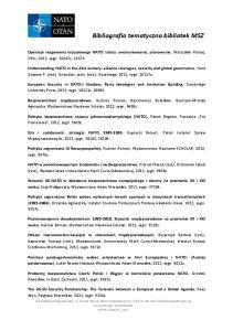 Bibliografia tematyczna bibliotek MSZ