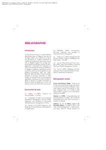 BIBLIOGRAPHIE. Introduction. Bibliographie choisie. Documents de base