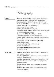 Bibliography. 228 Bibliography BOOKS