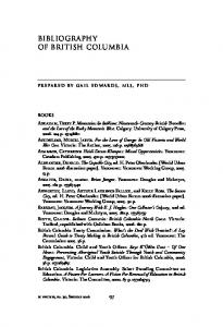 Bibliography of british columbia