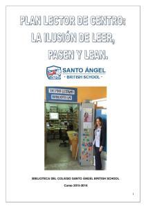BIBLIOTECA DEL COLEGIO SANTO ÁNGEL BRITISH SCHOOL