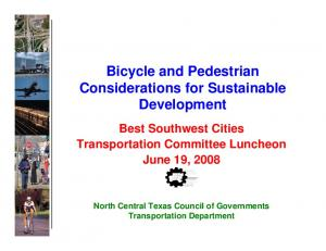 Bicycle and Pedestrian Considerations for Sustainable Development