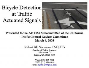 Bicycle Detection at Traffic Actuated Signals