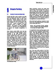 Bicycle Parking. 9.1 Guiding Principle and Objectives. 9. Bicycle Parking