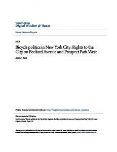 Bicycle politics in New York City: Rights to the City on Bedford Avenue and Prospect Park West