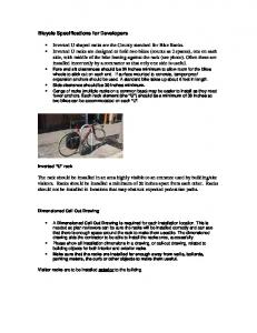 Bicycle Specifications for Developers
