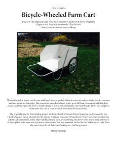 Bicycle-Wheeled Farm Cart
