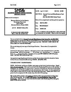Bid Page 1 of 11