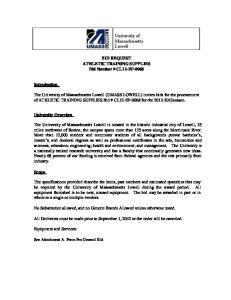 BID REQUEST ATHLETIC TRAINING SUPPLIES Bid Number # CL12-EP-0068