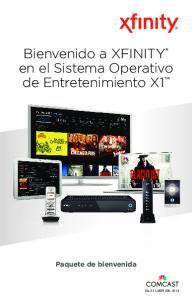 Bienvenido a XFINITY en el Sistema Operativo de Entretenimiento X1