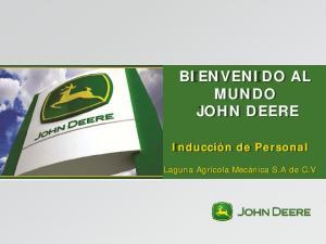 BIENVENIDO AL MUNDO JOHN DEERE